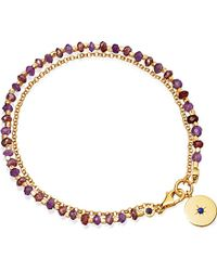 Astley Clarke | Multicolor Amethyst And 18ct Yellow Gold-plated Biography Bracelet | Lyst