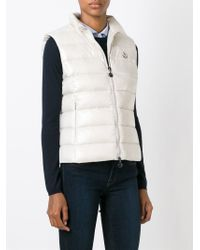 Moncler - Natural 'Ghany' Padded Gilet - Lyst
