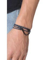 Miansai - Blue Hook On Rope Noir Bracelet for Men - Lyst