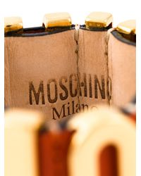 Moschino | Orange Logo Plaque Cuff | Lyst
