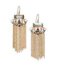 Alexis Bittar | Metallic Elements Punk Labradorite & Crystal Fringe Drop Earrings | Lyst