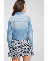 Forever 21 | Blue Faded Denim Jacket | Lyst