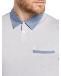 Original Penguin - Gray Cedar Polo Shirt for Men - Lyst