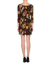 Prada - Brown Short Dress - Lyst