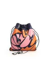 Miu Miu - Pink Patchwork Nappa Drawstring Pouch - Lyst