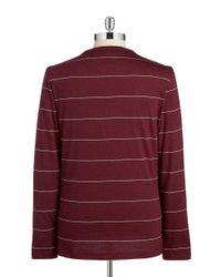 Lacoste | Red Slim Fit Long Sleeved Tee for Men | Lyst