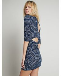 Free People - Blue Terri Bodycon Dress - Lyst