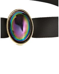 ASOS - Black Rainbow Stone Choker Necklace - Lyst