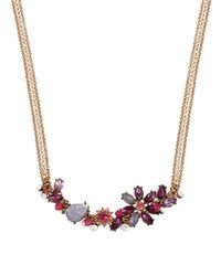 Betsey Johnson | Purple Fall Follies Stone Collar Necklace | Lyst