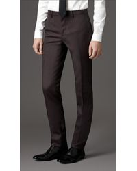 Burberry - Brown Slim Fit Wool Suit for Men - Lyst