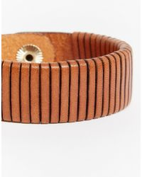 Pieces | Brown Ronto Leather Bracelet Multipack | Lyst