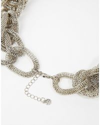 Pieces | Metallic Laja Chain Choker Necklace | Lyst
