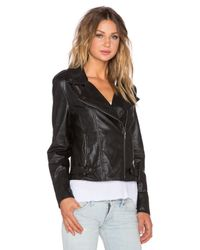 MINKPINK - Gray Reckless Faux-Leather Biker Jacket - Lyst