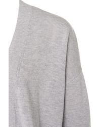 HUGO Gray Cardigan In A Wool Blend With Cashmere: 'shanay'