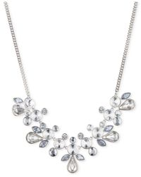 Givenchy | Metallic Silver-tone Crystal Collar Necklace | Lyst