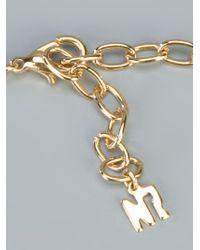 Nina Ricci - Metallic Embellished Teardrop Pendant - Lyst