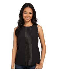 MICHAEL Michael Kors | Black Sleeveless Top | Lyst