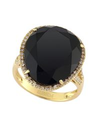 Effy | Metallic 14 Kt. Yellow Gold Onyx And Diamond Ring | Lyst