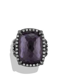 David Yurman | Purple Chã¢telaine Ring With Black Orchid And Gray Diamonds | Lyst
