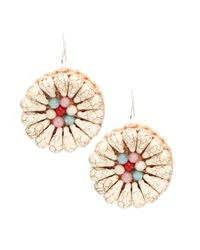 Panacea | Multicolor Fan Beaded Drop Earrings | Lyst
