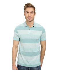 Perry Ellis | Green Textured Stripe Polo for Men | Lyst