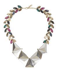Iosselliani   Metallic Swarovski Crystal Embellished Necklace   Lyst