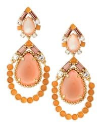 kate spade new york - Multicolor Amalfi Mosaic Earrings Pinkorange - Lyst