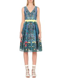 Peter Pilotto | Green Circle Crepe Dress | Lyst