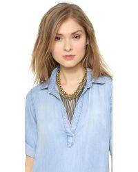 Bex Rox - Metallic Maasai Short Chain Necklace - Lyst