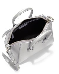 Givenchy - Mini Metallic Antigona Satchel - Lyst