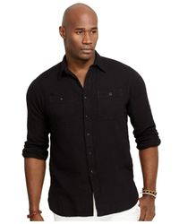 Polo Ralph Lauren - Gray Big And Tall Cotton Workshirt for Men - Lyst