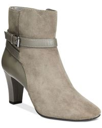 Bandolino | Gray Valerie Ankle Booties | Lyst