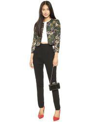 Alice + Olivia - Alice  Olivia Kidman Embellished Box Jacket  Black Multi - Lyst