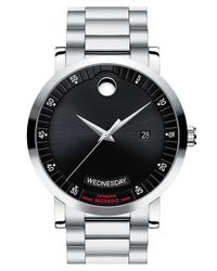 Movado - Metallic 'red Label' Automatic Bracelet Watch for Men - Lyst