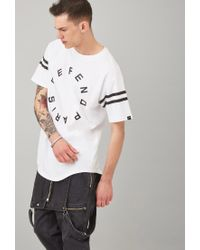 Forever 21 - White Defend Paris Varsity-striped Tee for Men - Lyst