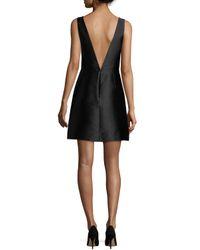kate spade new york - Black Beaded-neck Sleeveless Cocktail Dress - Lyst