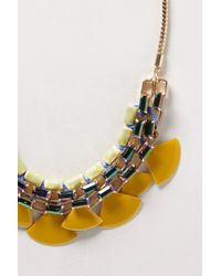 Anthropologie   Yellow Sugared Lemon Bib Necklace   Lyst