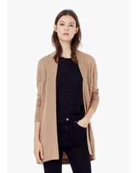 Mango - Natural Belt Long Cardigan - Lyst