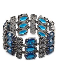 Ralph Lauren | Blue Lauren 3-Row Faceted Stone Bracelet | Lyst