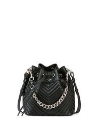 Saint Laurent | Black Emmanuelle Giant Quilted Bucket Bag | Lyst
