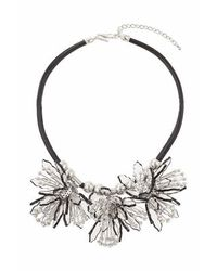 TOPSHOP - Black Mega Flower Perspex Necklace - Lyst