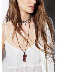 Free People | Pink Ishi Womens Yala Necklace | Lyst