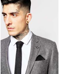 Minimum - Gray Bow Tie And Pocket Square for Men - Lyst
