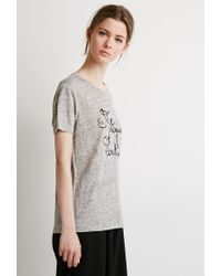 Forever 21 | Gray Me Prouver Slub Knit Tee | Lyst