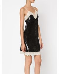 Ashish - Black Sequinned Slip Dress - Lyst