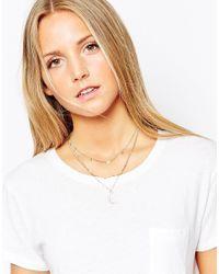ALDO - Metallic Huzza Multirow Moon Necklace - Lyst