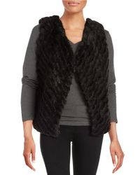 BB Dakota | Black Keith Textured Faux Fur Vest | Lyst