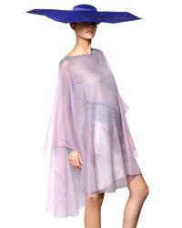 Giorgio Armani - Pink Long Silk Poncho - Lyst