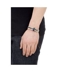 Caputo & Co. | Blue Skived Leather Bracelet for Men | Lyst
