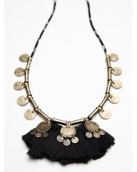Free People - Metallic Fringe Coin Necklace - Lyst